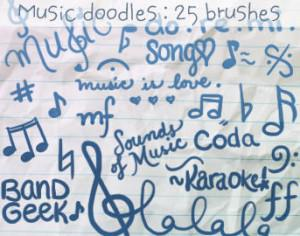 Music Doodles Brushes 2 Photoshop brush