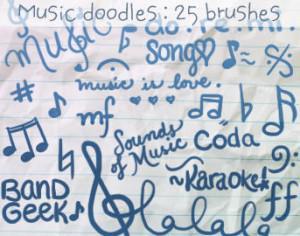 Music Doodles Brushes 2 Photoshop brush