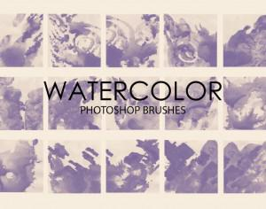 Free Watercolor Wash Photoshop Brushes 4 Photoshop brush