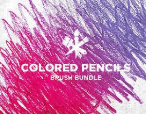 Colored Pencils Photoshop brush
