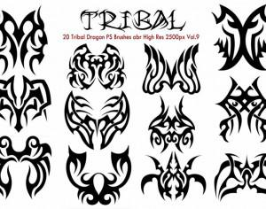 20 Tribal PS Brushes Vol.9 Photoshop brush
