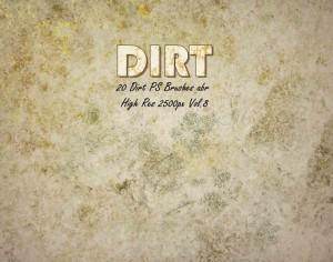 20 Dirt Brushes abr.vol.8 Photoshop brush