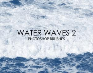 Free Water Waves Photoshop Brushes 2 Photoshop brush