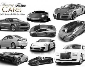 20 Amazing Cars PS Brushes  Photoshop brush