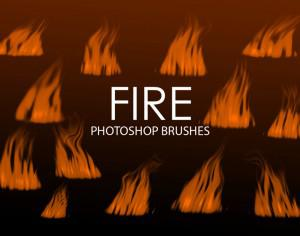 Free Digital Fire Photoshop Brushes 3 Photoshop brush