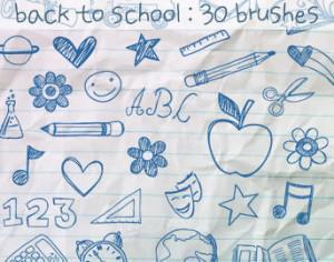 School Doodles Brushes Photoshop brush