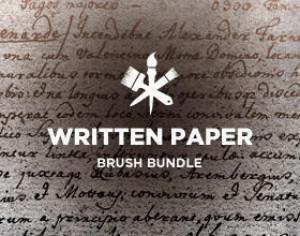 Written Paper Photoshop brush