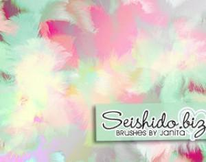 FREE Seishido.biz Fluffy Feather Brushes Photoshop brush