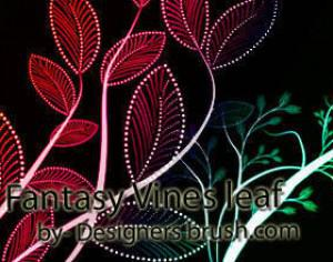 Fantasy Vines leaf Photoshop brushes Photoshop brush