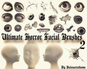 Ultimate Horror Facial Brushes 2 Photoshop brush