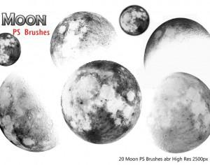 20 Moon Ps Brushes Photoshop brush