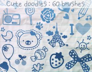 Cute Doodles Brushes Photoshop brush