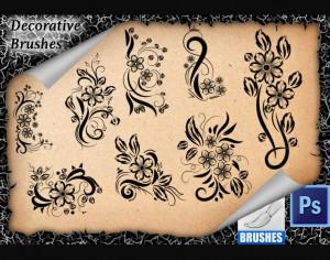 8 Flourish Decorative Brushes Photoshop brush