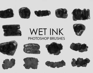 Free Wet Ink Photoshop Brushes 3 Photoshop brush