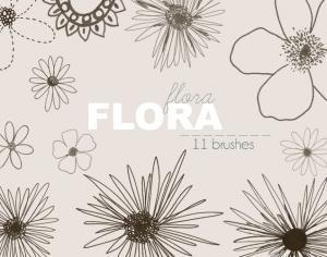 Flora - Brushes Photoshop brush