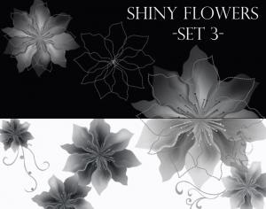 Shiny Flowers set 3 Photoshop brush