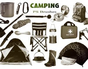 20 Camping PS Brushes abr. Vol.5 Photoshop brush