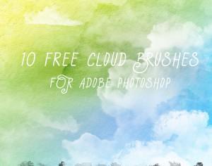 10 Free Cloud Brushes Photoshop brush