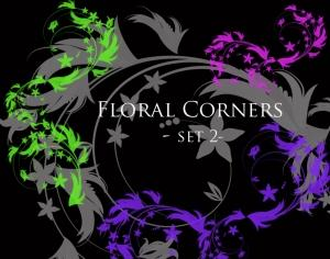 Floral Corners - set 2 Photoshop brush
