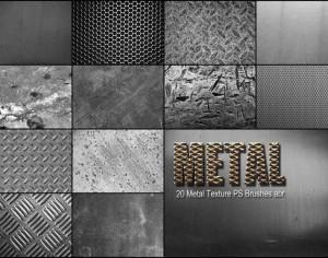 20  Metal Texture PS Brushes abr vol 3 Photoshop brush