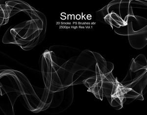 20 Smoke PS Brushes abr. Vol.1 Photoshop brush