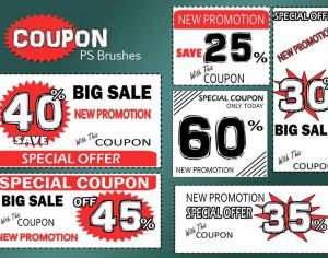 20 Coupon PS Brushes abr. Vol.5 Photoshop brush