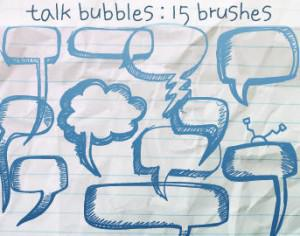 Talk Bubbles Doodles Photoshop brush
