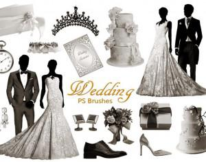 20 Wedding PS Brushes abr. vol.10 Photoshop brush