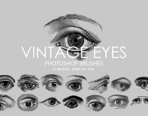 Free Vintage Eyes Photoshop Brushes Photoshop brush