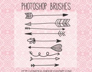 9 Arrow Brushes Photoshop brush