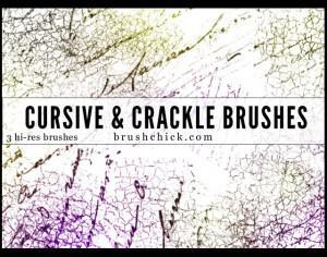 3 Cursive and Crackle Brush Pack Photoshop brush