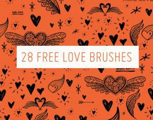 28 Free Love Brushes Photoshop brush