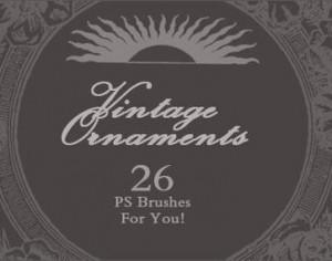 Vintage Ornaments  Photoshop brush