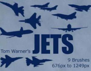 Jets Photoshop brush