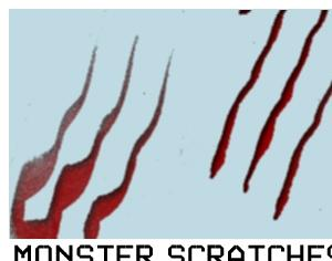 Monster Scratches Photoshop brush