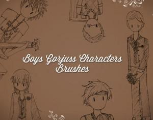 Gorjuss Boys Brushes Photoshop brush