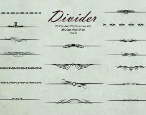 20 Divider Ps Brushes abr. vol.4 Photoshop brush