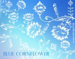 Blue Cornflower Photoshop brush