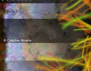 Strange Forms Abstract Brushes Photoshop brush