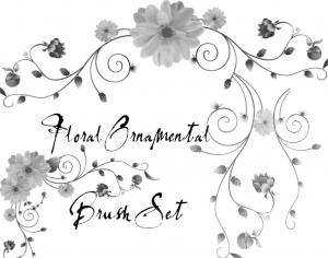 Floral Ornamental Brush Set Photoshop brush