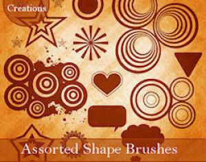 Assorted Shape Brushes Photoshop brush