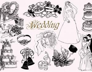 20  Vintage Wedding PS Brushes abr Photoshop brush