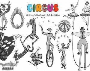 20 Circus Ps Brushes vol.4 Photoshop brush