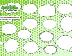 20 Speech Bubbles PS Brushes abr  vol 7 Photoshop brush