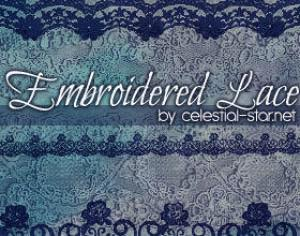 Embroidered lace Photoshop brush