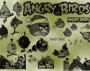 angry birds Photoshop brush