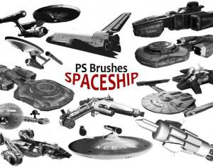 20 Spaceship PS Brushes abr. vol.3 Photoshop brush