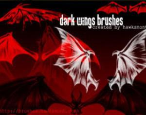 Dark Wings Brushes Photoshop brush