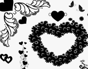 Forever Hearts Photoshop brush