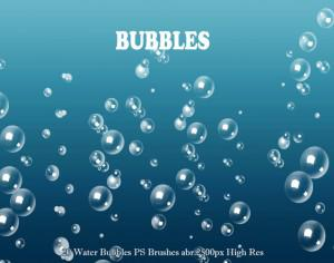 20 Water Bubbles PS Brushes abr. Vol.3  Photoshop brush